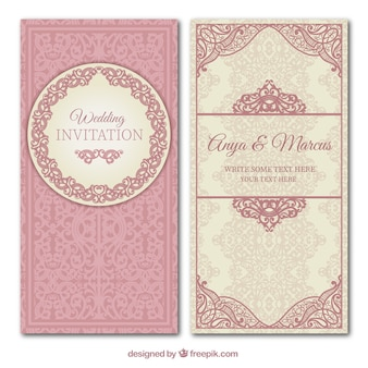 Ornamental wedding invitation