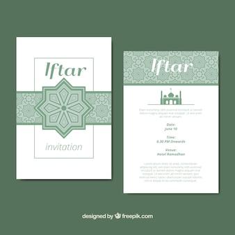 Ornamentale iftar Einladung