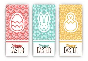 Ostern-Gruß-Banner Designs
