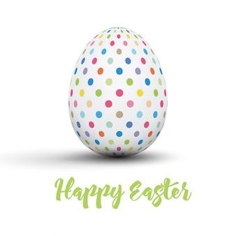 Ostern-Karte mit gepunkteten Ei