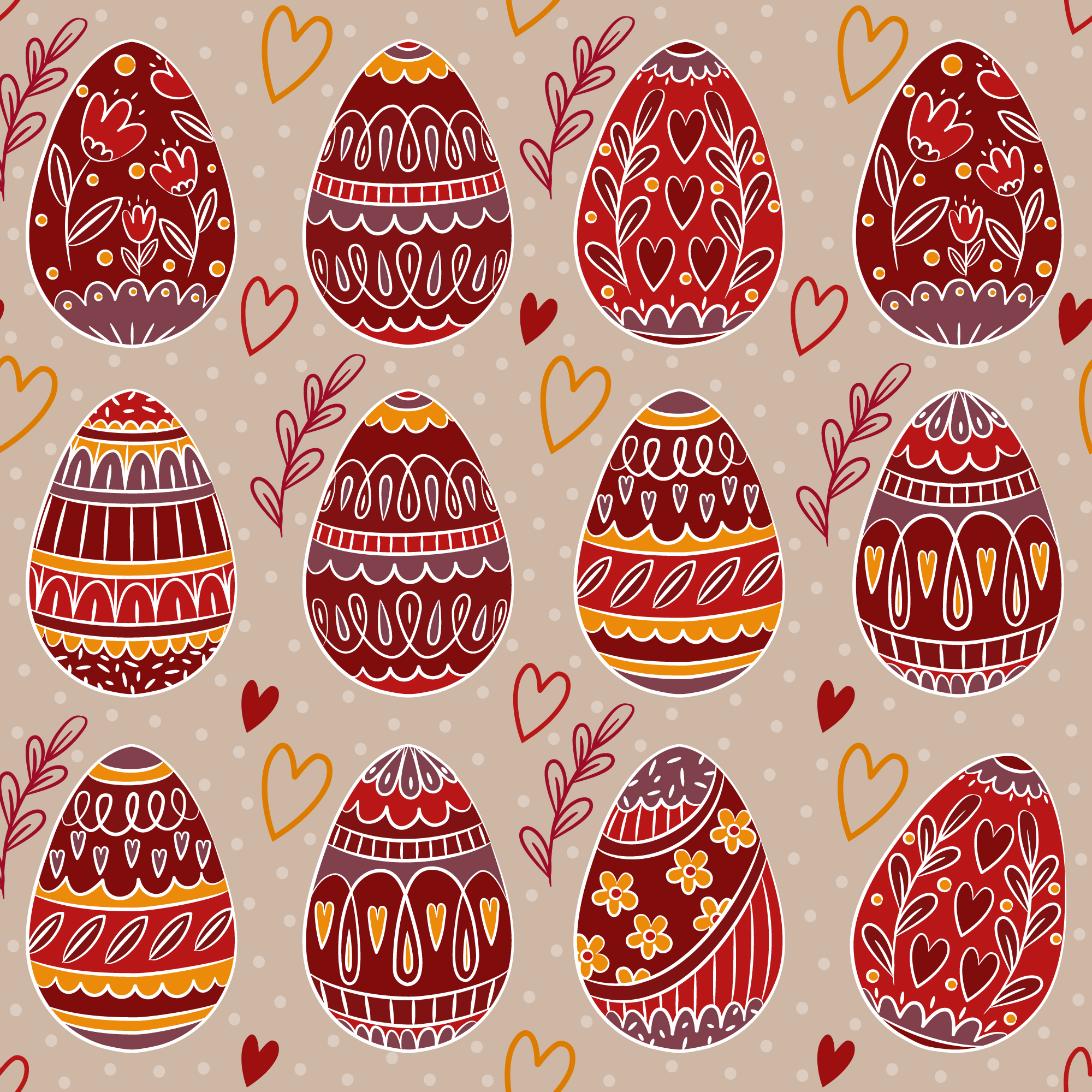 Ostern Muster Design