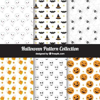 Pack halloween dekorative Muster