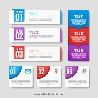 Pack of Infografik Banner