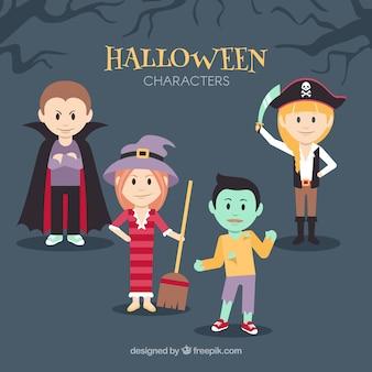 Pack von lustigen Halloween Kostümen