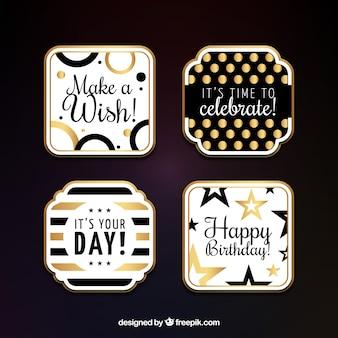 Packen Sie elegante Geburtstagsaufkleber