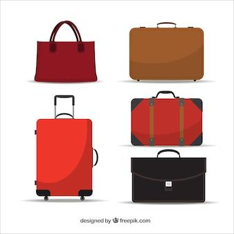 Packsack und Koffer