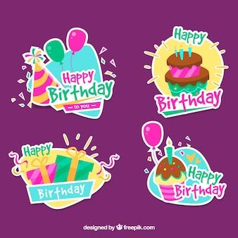 Packung dekorative Geburtstagsaufkleber