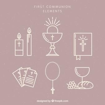 Packung der ersten Kommunion