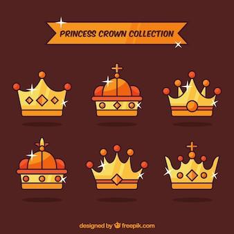 Packung glänzende Prinzessin Kronen