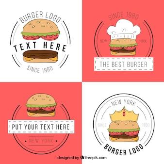 Packung Hamburger Logos