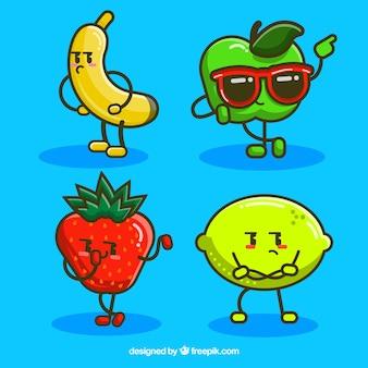 Packung mit modernen Fruchtfiguren
