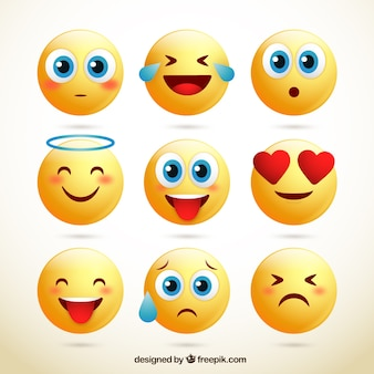 Packung mit niedlichen Smileys