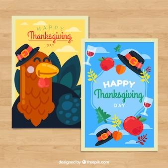 Packung mit Thanksgiving-Grußkarten