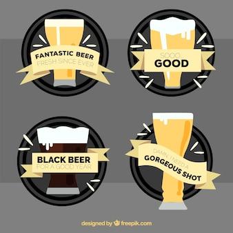 Packung mit verschiedenen Bieren