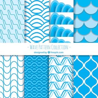 Packung von abstrakten Wellenmustern