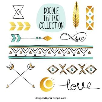 Packung von Hand bemalt ethnischen Tattoos