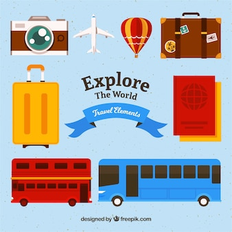Packung von Reiseartikeln und Transport
