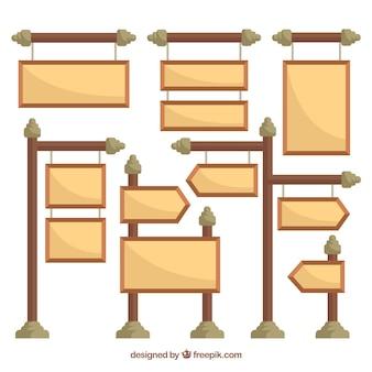 Packung von verschiedenen Zeichen in flachem Design