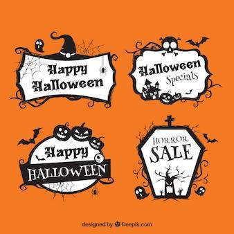 Packung von vier Halloween-Aufkleber