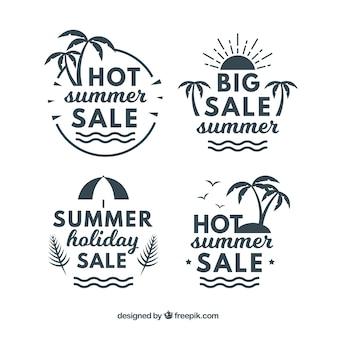 Packung von Vintage Sommer Verkauf Aufkleber