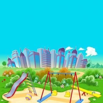Park und Stadt