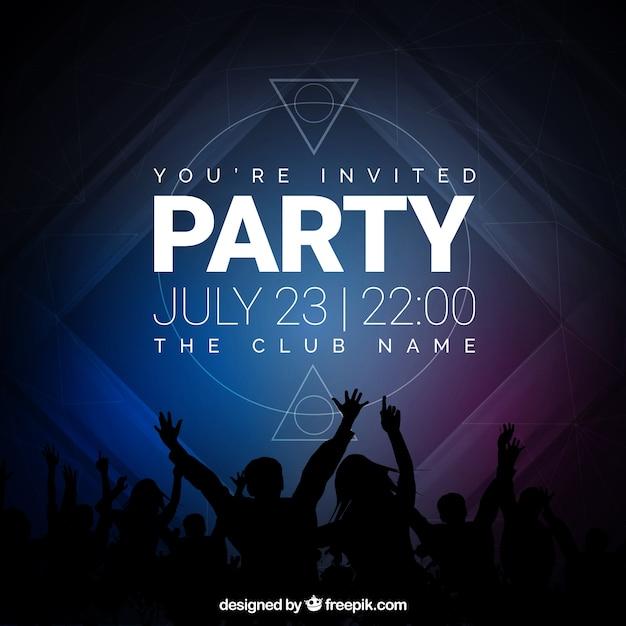 Party Einladung, Dunkle Töne