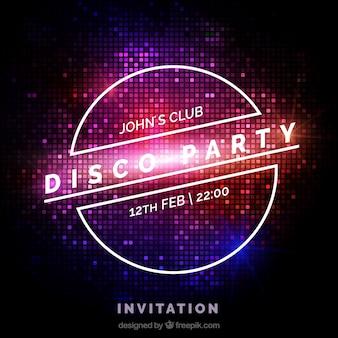 Party Einladung, Lichteffekt