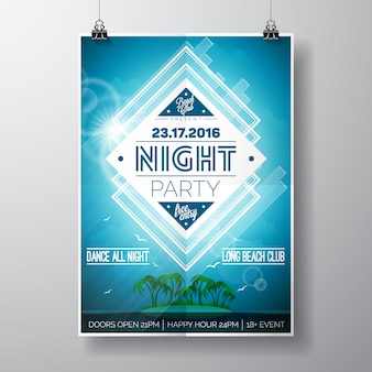 Party-Plakat-Design