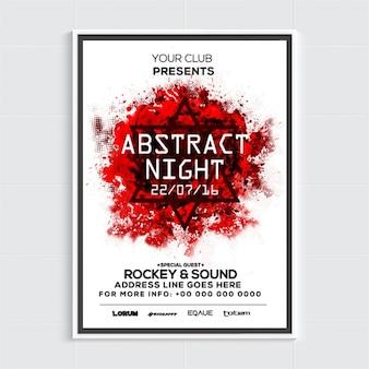 Party-Plakat Vorlage mit abstrakten roten Fleck