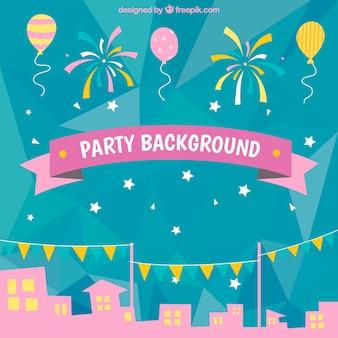Party-Stadt Hintergrund