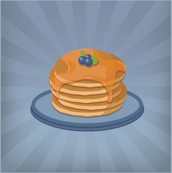 Pfannkuchen Hintergrund-Design