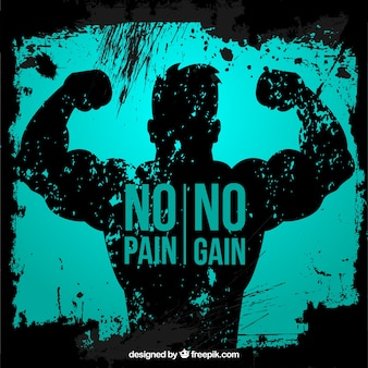 Phrase auf einem Muskelmann Hintergrund