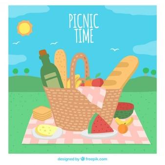 Picknick-Zeit Hintergrund