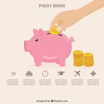Piggy bank Vorlage