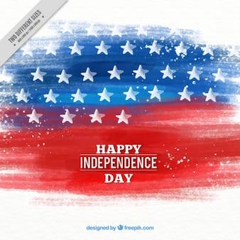 Pinselstrich USA-Flagge Hintergrund