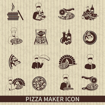 Pizza Maker-Icons