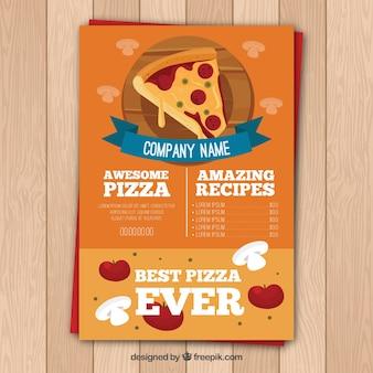 Pizza-Menüvorlage