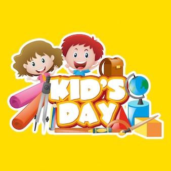 Plakatentwurf mit dem Tag des Kindes