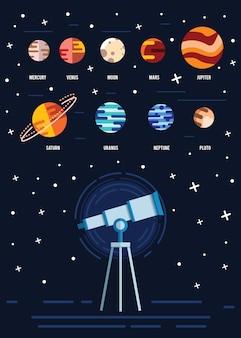 Planeten Hintergrund Design