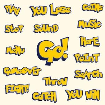 Pokemon Go-Stil Spiel Vermögen Design