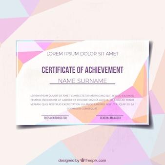 Polygonal Diplom des Erfolgs
