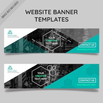 Polygonal Website Banner Vorlagen