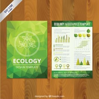 polygonale Öko-Broschüre