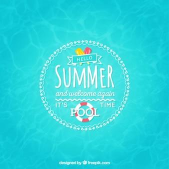 Pool Zeit Hintergrund
