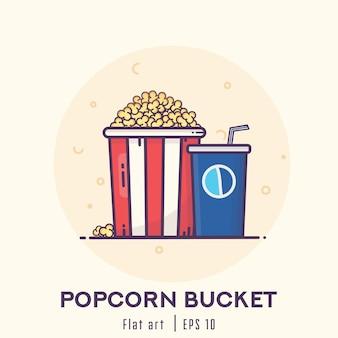 Popcorn Eimer flaches Design