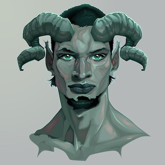 Portrait eines Fauns Vektor-Illustration