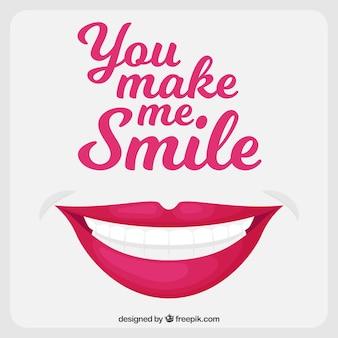 Positiver Hintergrund mit Botschaft und Lächeln