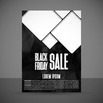 Poster von schwarzen Freitag im modernen Stil
