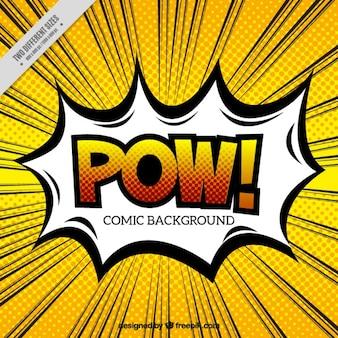 Pow Sprechblase mit Hintergrund im Pop-Art Stil