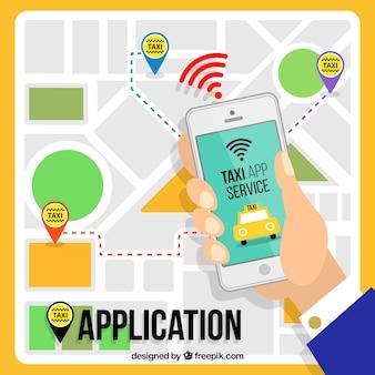 Praktische Anwendung für Taxi-Service
